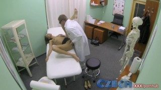 Czech Doctor Makes Sexy Patient With Incredible Boobies Squirt for the First Time
